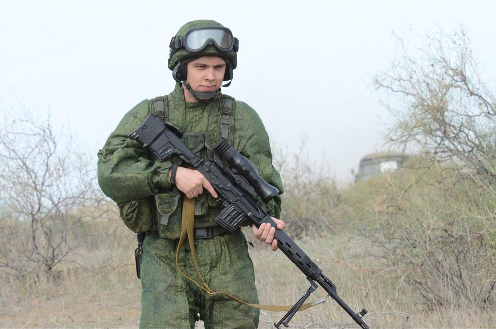 Обновленная винтовка СВД с новым прикладом на испытаниях