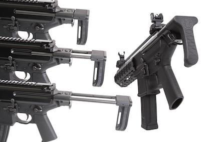 Приклад пистолета-пулемета SiG Sauer напоминает приклад MP5
