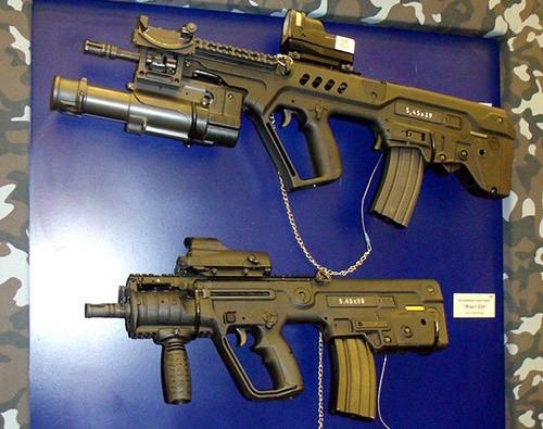 Украинский вариант штурмовой винтовки Tavor c южноафриканским 40 мм подствольным гранатометом