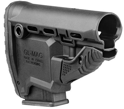 приклад GL-MAG для винтовок AR-15 с интегрированным 10-и зарядным магазином