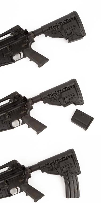 приклад GL-MAG для винтовок AR-15 позволяет крепить 10,20, 30, 40 и 60-и зарядные магазины