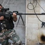 Винтовка ОСВ-96 в руках сирийских инсургентов