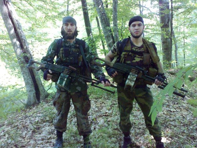 Ручные пулеметы у боевиков тоже имеются