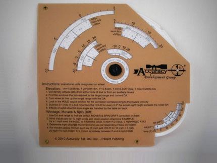 Баллистический калькулятор Whiz Wheel от компании Accuracy 1st