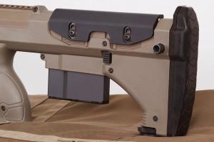 Изменения в винтовке SRS-A1 включают  в себя новый регулируемый формованный резиновый подщечник, для подъема и опускания которого используется  простой шестигранный ключ