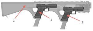 Единая конверсионная платформа NEDG для двух пистолетов