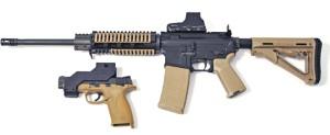 Монтажная планка для крепления пистолета к карабину (винтовке)