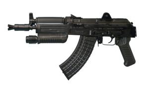 Пистолет SAM7K-02 оснащен почти обычным цевье, но с интегрированным фонариком