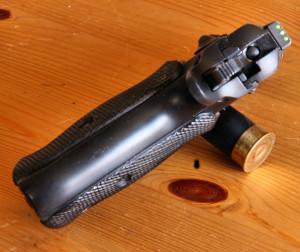 Пистолет CZ-75 с современным съемным целиком