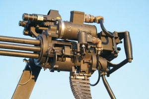 Скорострельный пулемет M134G. Вид сбоку