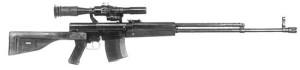 Опытная снайперская винтовка Симонова