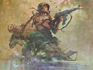 Агитационный плакат времен войны в Индокитае