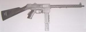 Пистолет-пулемет MAT-49 - вариант для жандармерии