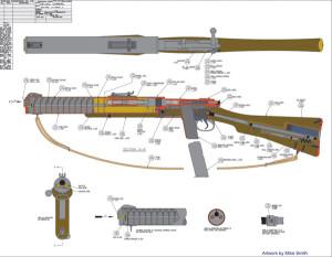 Бесшумный карабин De Lisle оружие британских коммандос