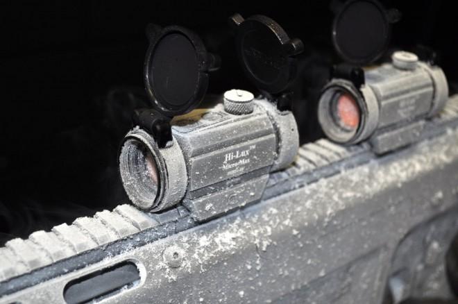 Испытания оружия и оптики при низких температурах на предприятии Alexander Arms