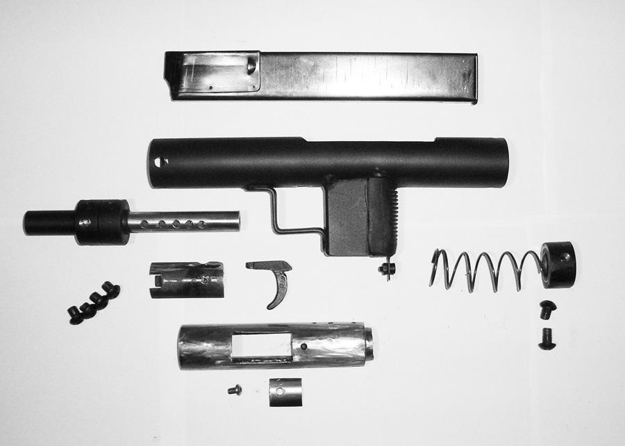 Самодельный пистолет-пулемет состоящий всего из 9-и деталей
