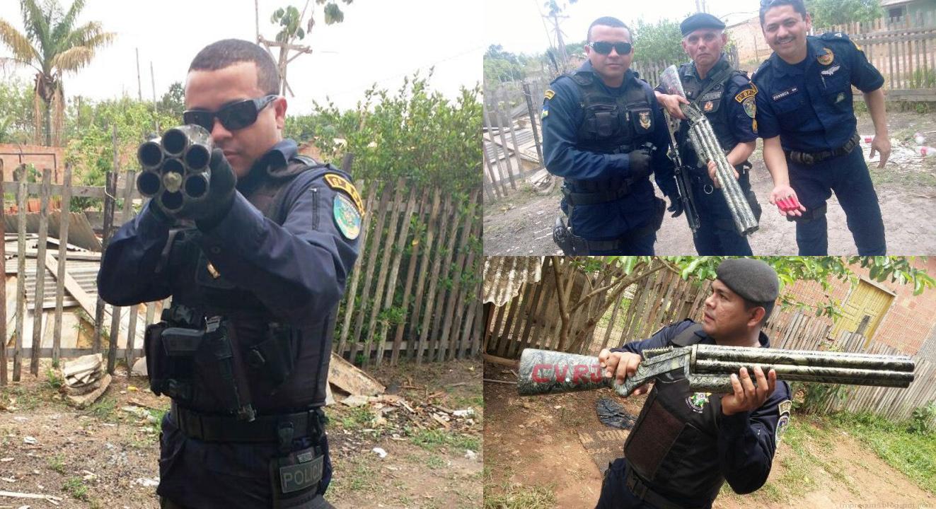 6-и ствольный дробовик из Бразилии