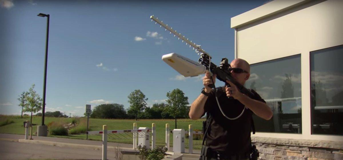 Электормагнитная винтовка для борьбы с дронами-беспилотниками