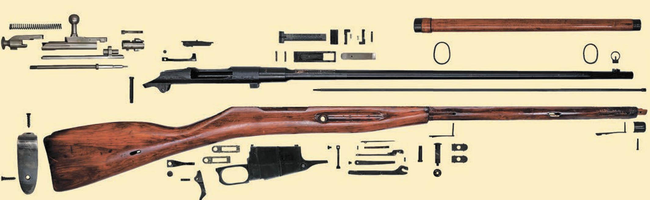 Полная разборка винтовки Мосина