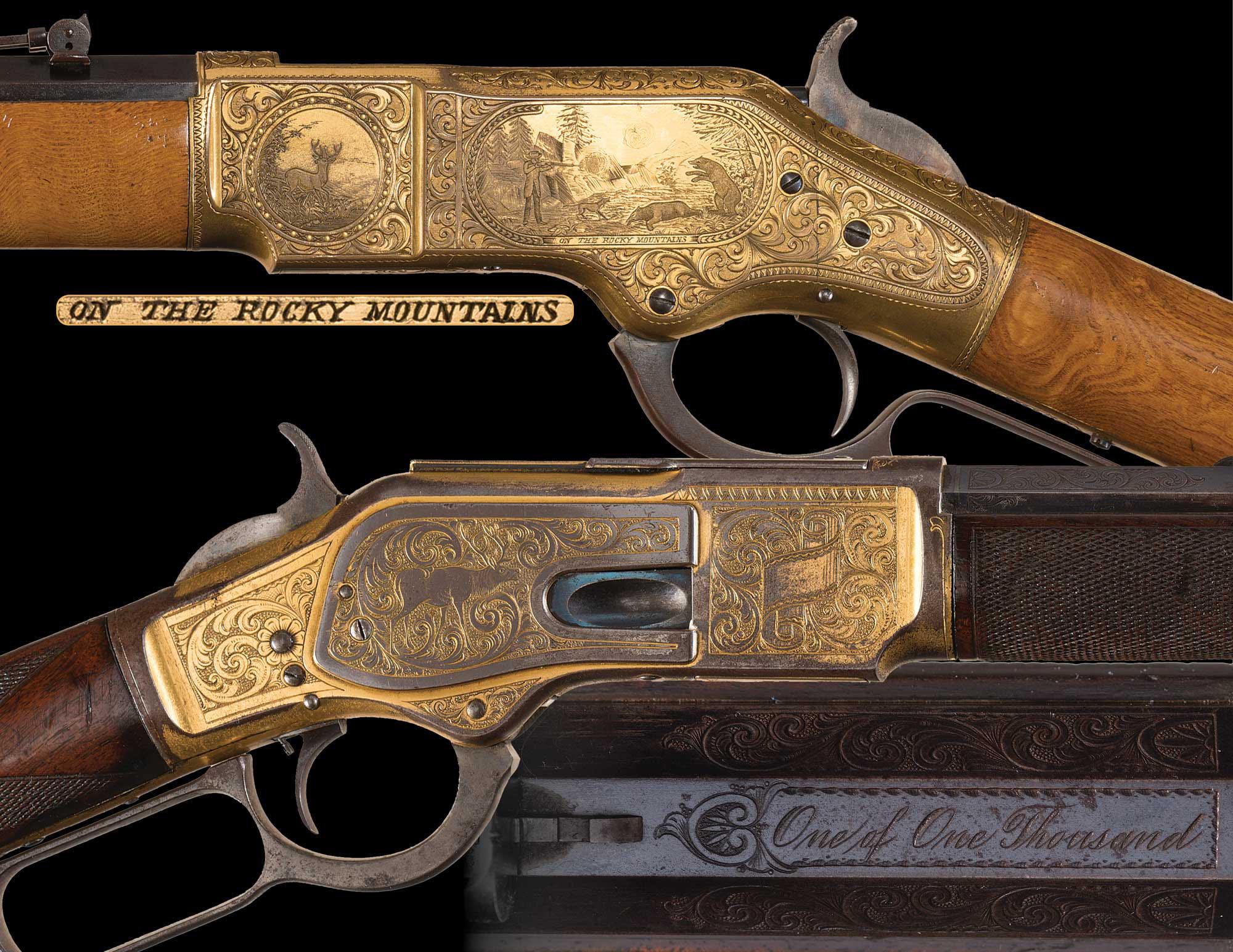 Коллекционная винтовка с поворотным затвором 19-го века