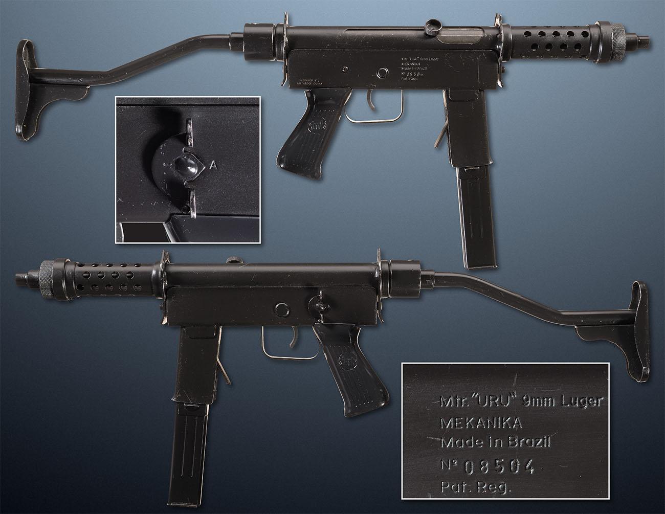 Пистолет-пулемёт Mekanika URU (Бразилия)