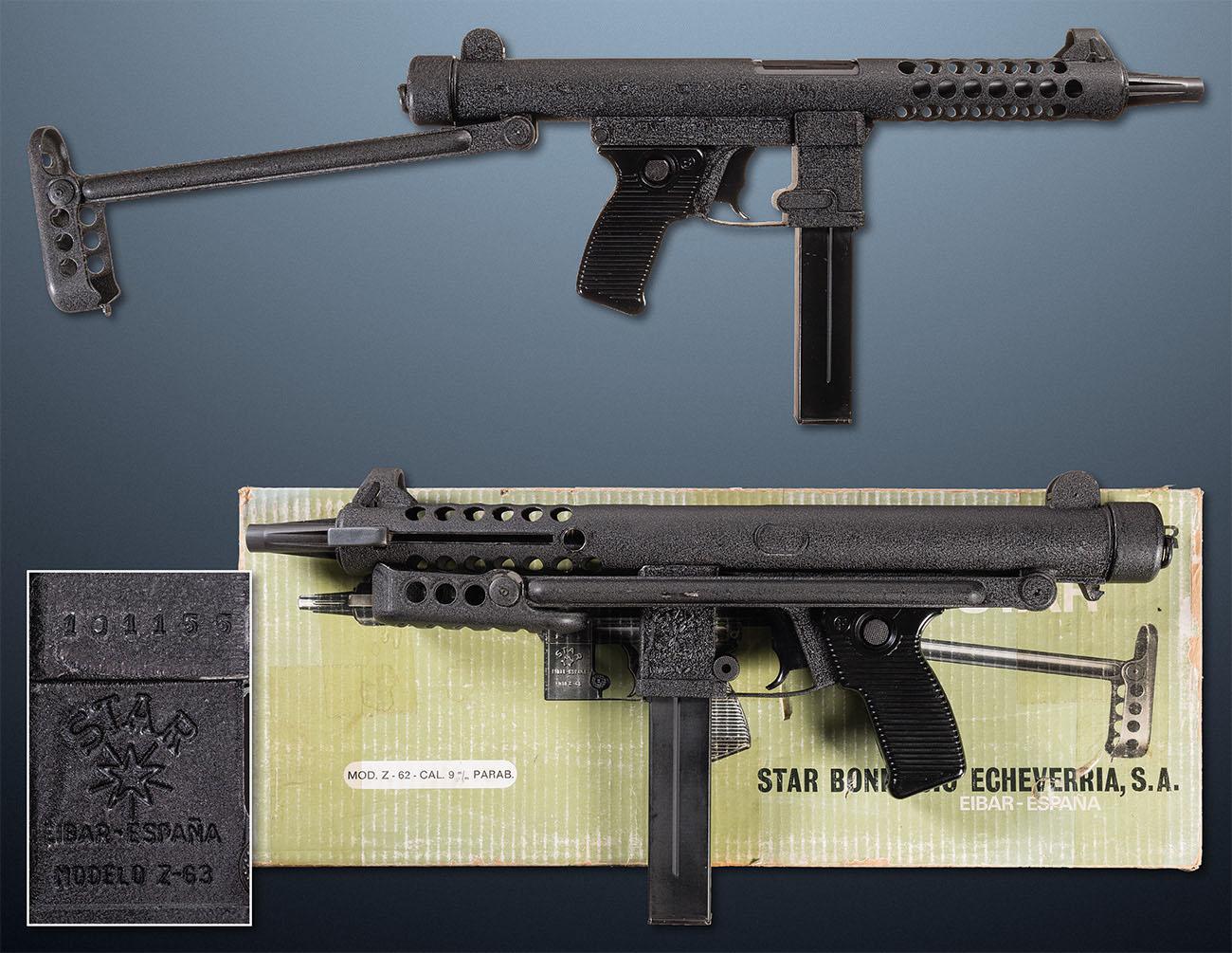 Пистолет-пулеметSpanish-Star-Z-63, Испания