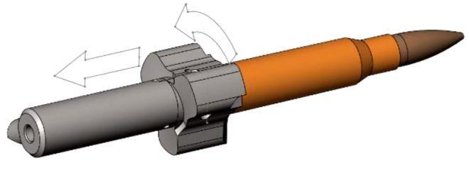 Затвор винтовки Конева. 3Д-изображение