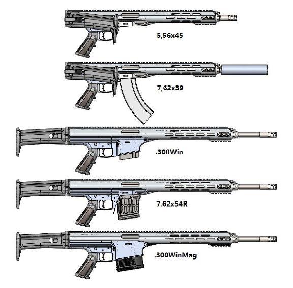 Модульная мультикалиберная винтовка Константина Конева