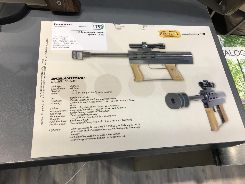 Semtecx Mini .50BMG - Пистолет калибром 12 мм, Германия - информационный лист