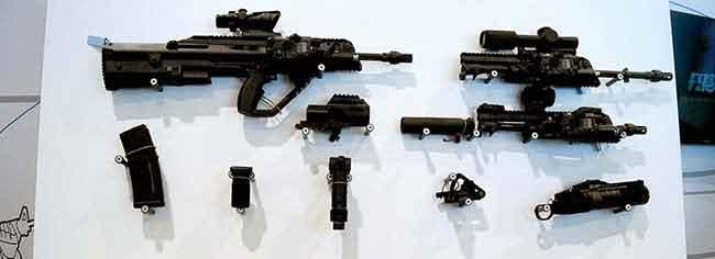 Штурмовая винтовка F90MBR и применяемое оборудование