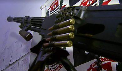 Станковый пулемет Горюнова конфискованный в Бразилии