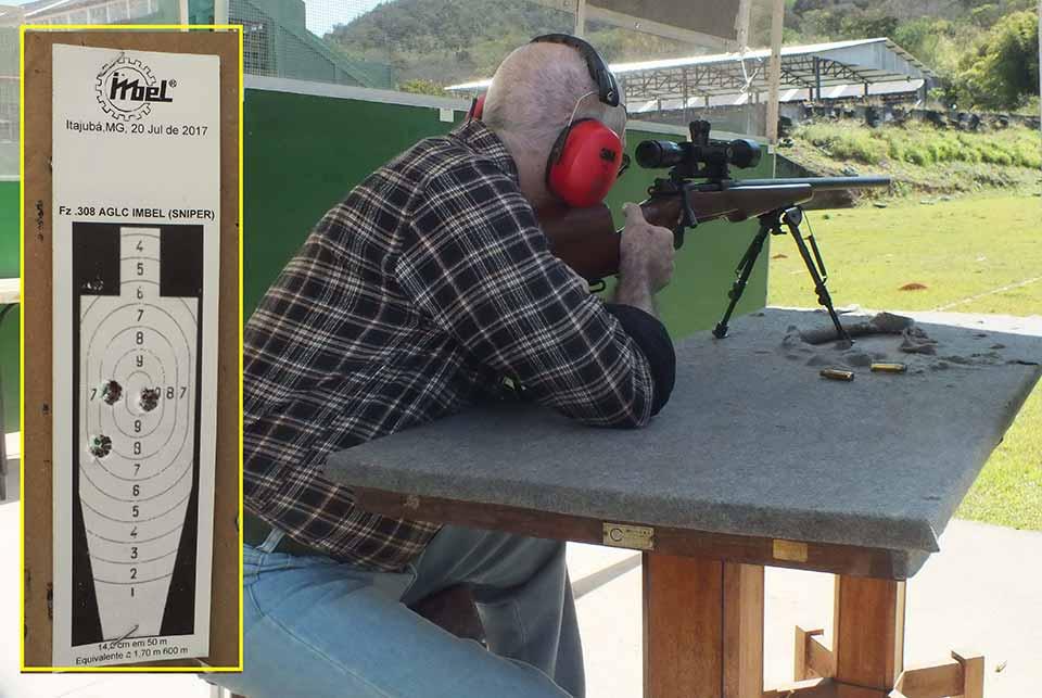Стрельба из винтовки AGLC на заводском стрельбище