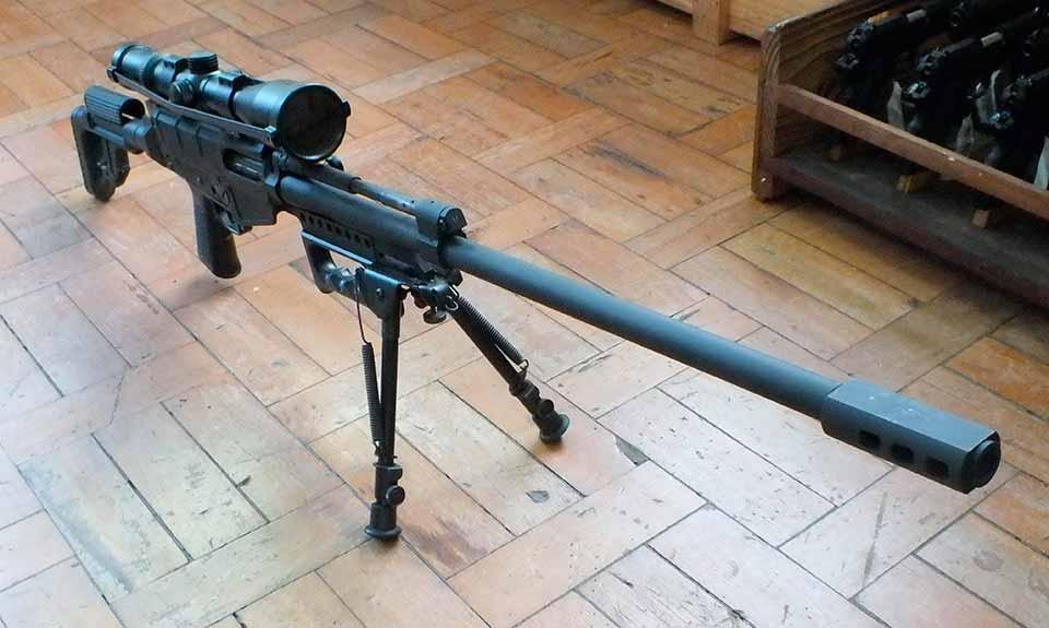 Вид испытательного образца винтовки калибром 7,62х51 мм