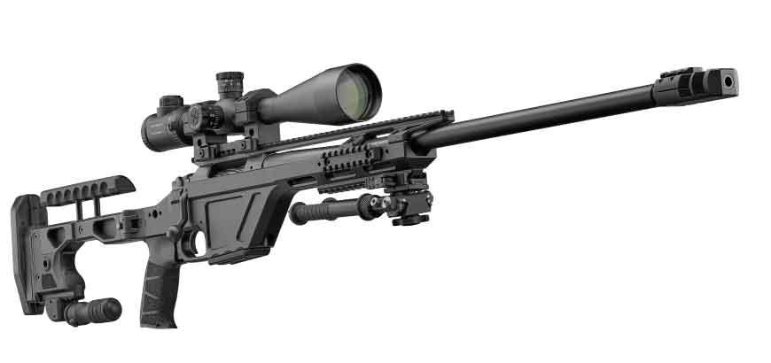 Снайперская винтовка TSR со сложенными  сошками