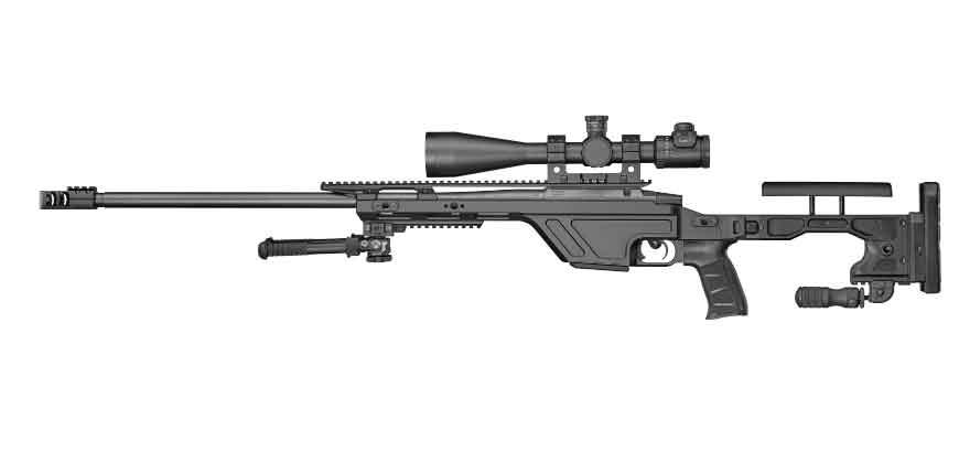 Снайперская винтовка TSR, вид справа