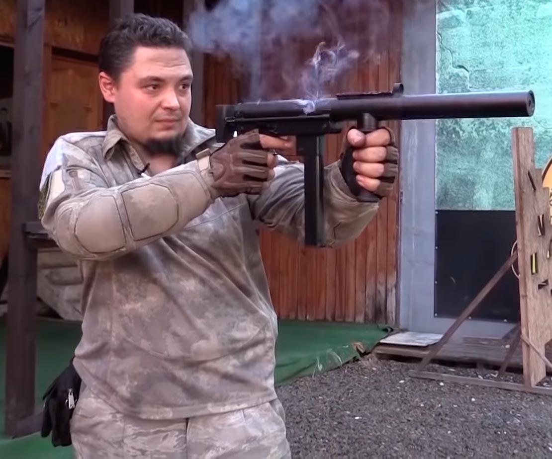 Пистолет-пулемет Оплот с глушителем