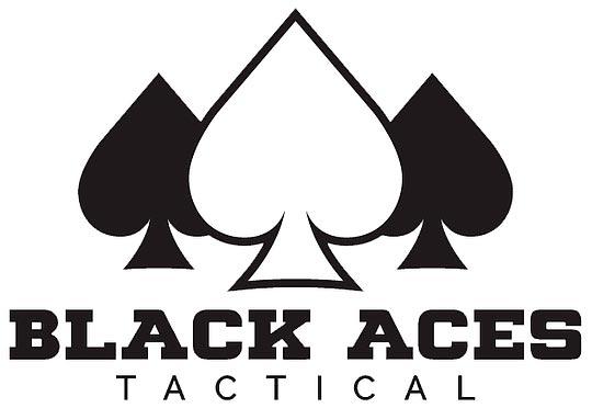 Логотип компании Black Aces Tactical (США) производитель  дробовиков, глушителей и аксессуаров