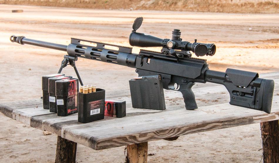 Крупнокалиберная магазинная винтовка Bushmaster BA50 под патрон .50BMG (12.7х99 мм)