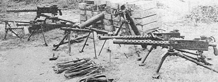 Очередная захваченная у вьетнамских партизан коллекция оружия