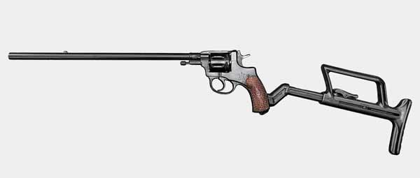 "Карабин-револьвер ""Тень-7"" на базе Нагана обр. 1895 г. под патрон 5.45х18 мм"